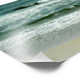 Emerald Green Waves Crashing on the Beach Photograph