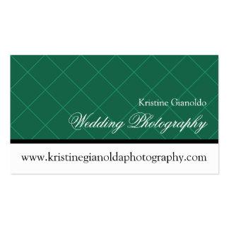 Emerald Green Wedding Photography Business Card
