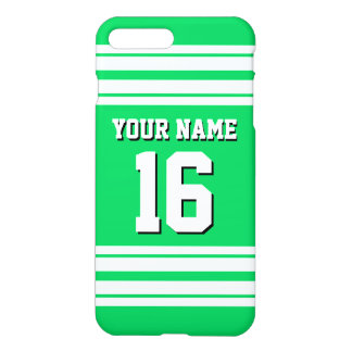 Emerald Green White Team Jersey Custom Number Name iPhone 7 Plus Case