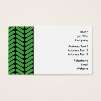 Emerald Green Zigzags inspired by Knitting. Business Card