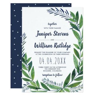 Emerald Greenery Wedding Card