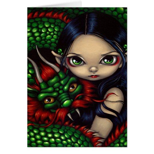"""Emerald Guardian"" Greeting Card"