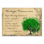 Emerald Heart Leaf Tree Swirl Pack Of Chubby Business Cards