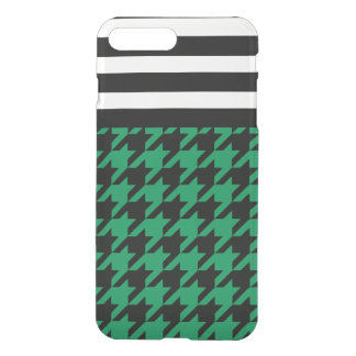 Emerald Houndstooth w/ Stripes 2 iPhone 7 Plus Case
