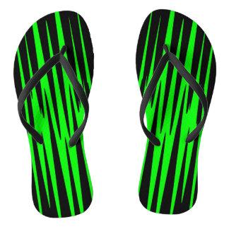 EMERALD ISLE (an abstract art design) ~ Flip Flops