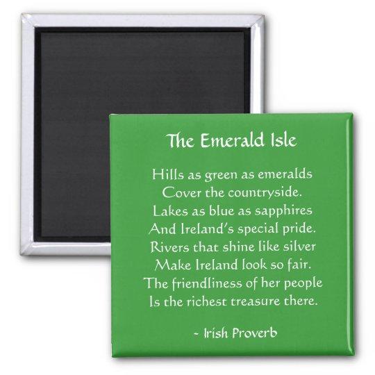 Emerald Isle Irish Proverb Magnet