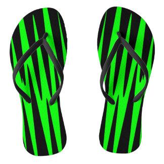 EMERALD ISLE wrap (an abstract art design) ~ Flip Flops