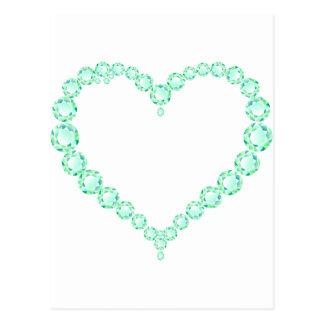 Emerald Jewel Heart Postcard
