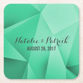 Emerald Jewel Tones Wedding Paper Coasters