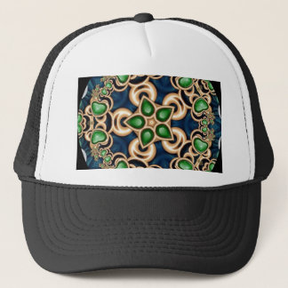 Emerald Jewels Kaleidoscope Trucker Hat