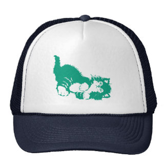 Emerald Kitten Hats