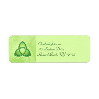 Emerald Love Knot Return Address Label