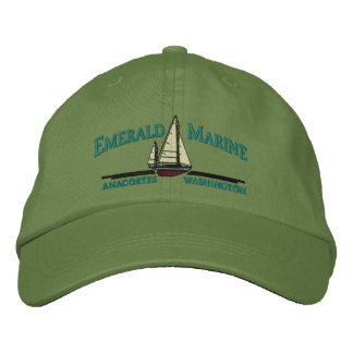 emerald marine hat embroidered baseball cap