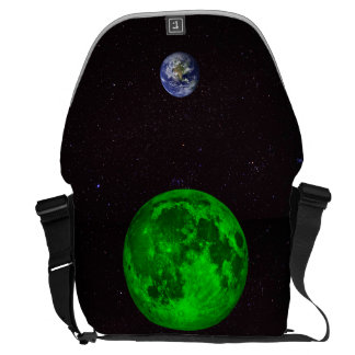 Emerald Moon and Planet Earth Commuter Bags