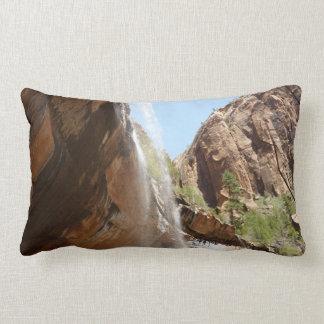 Emerald Pool Falls II from Zion National Park Lumbar Pillow