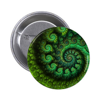 """Emerald Pools"" Fractal Button"