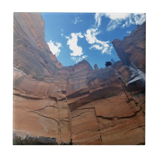Emerald pools Weeping Rock Zion National Park Small Square Tile