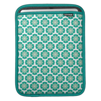Emerald Pop Retro Patterns Sleeve For iPads