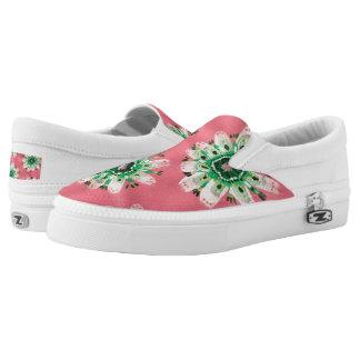 Emerald Rose Slip On Shoes