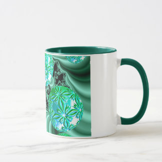 Emerald Satin Dreams - Abstract Irish Fairy Button