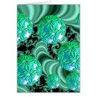 Emerald Satin Dreams - Abstract Irish Shamrock Card