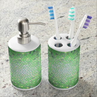 Emerald Stained Glass Mosaic Soap Dispenser