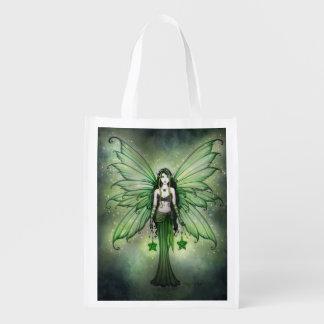 Emerald Star Fairy Fantasy Art Shopping Bag