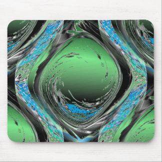 Emerald Swirl Mouse Mat