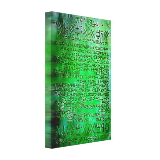 EMERALD TABLETS THOTH RA CANVAS EG CANVAS PRINT