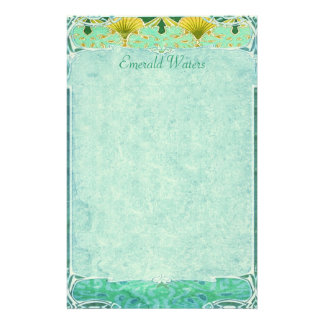 Emerald Waters - Art Nouveau Stationery