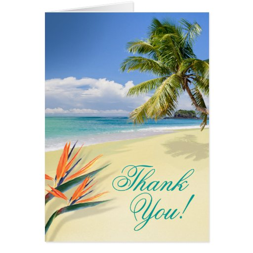 Emerald Waters Beach Thank You Card