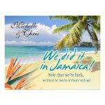 Emerald Waters Reception Card (Jamaica) Custom Invite