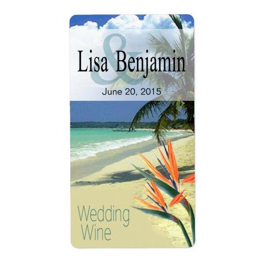 Emerald Waters Tropical Beach Wedding Wine