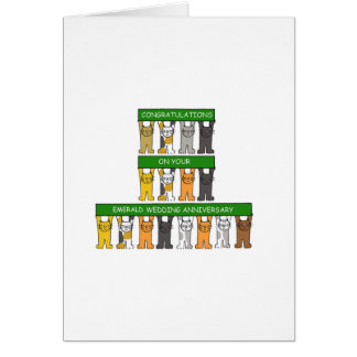 Wedding Anniversary Gifts 55 Years : emerald wedding anniversary 55 years greeting card ? 2 55 27 % off ...