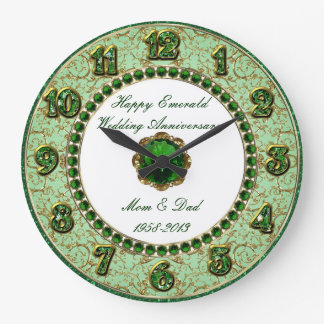 Emerald Wedding Anniversary Clock