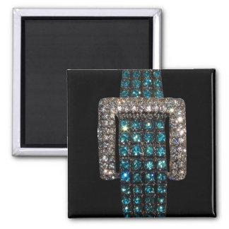 Emeralds and Diamonds Art Bling Bling Magnets