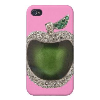 Emeralds Diamonds Jeweled Apple iPhone 4 Case Pink