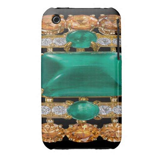 Emeralds, Diamonds Jeweled Blackberry Curve Case-M Case-Mate iPhone 3 Cases