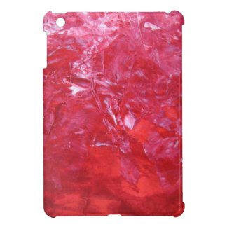 Emerge contemporary abstract carnation red floral iPad mini cover