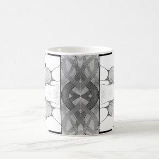 Emergence Black and White Abstract Mug