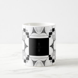 Emergence Black and White Abstract Coffee Mugs