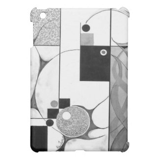 Emergence - Black & White Abstract in Watercolor iPad Mini Case