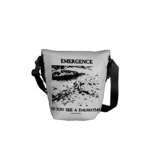 Emergence Do You See A Dalmatian? (Illusion) Messenger Bag