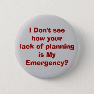 emergency 6 cm round badge