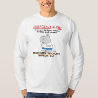 EMERGENCY ALERT CHOCOLATE by Boynton T-Shirt