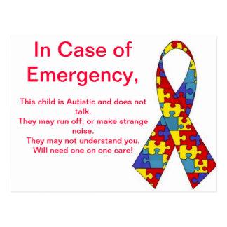 Emergency Alert Stickers Postcard