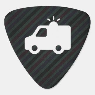Emergency Ambulances Minimal Guitar Pick