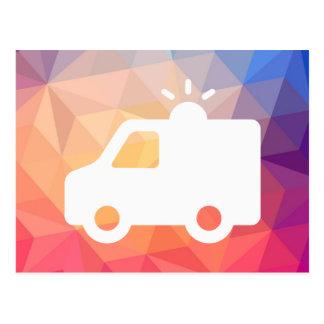 Emergency Ambulances Minimal Postcard