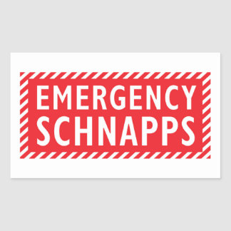 Emergency Booze Sticker - Schnapps