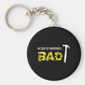 Emergency Break Basic Round Button Key Ring